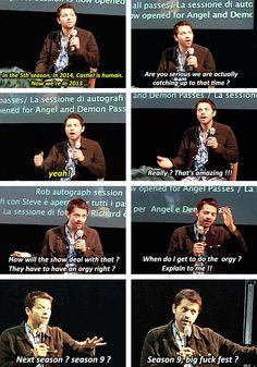 Season 9 orgy. Misha being Misha!!