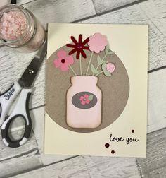 Valentine card using the Sizzix Garden Florals Thinlits die set. #sizzixlifestyle #sizzix  www.sharon-curtis.com