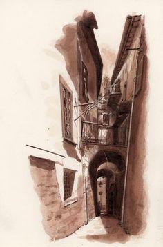 Skinny Alley, Viterbo, Italy FredLynch.com
