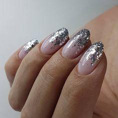 Nails gel, we adopt or not? - My Nails Nail Swag, Silver Nails, Pink Nails, Silver Glitter, Stylish Nails, Trendy Nails, Nail Manicure, Toe Nails, Christmas Gel Nails