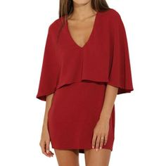 Popular Trendy Simple Comfortable Yet Sexy American Apparel Bodycon Evening Dress Red XS-XL - Loluxe - 1