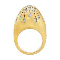 $16,000.00. Sunburst Dome Cocktail Ring | From a unique collection of vintage cocktail rings at https://www.1stdibs.com/jewelry/rings/cocktail-rings/