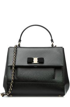 SALVATORE FERRAGAMO Leather Carrie Shoulder Bag. #salvatoreferragamo #bags…