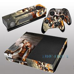 Details About For X Box One Console Kinect 2 Free Controller Covers Cool  Fashion Skin Sticker