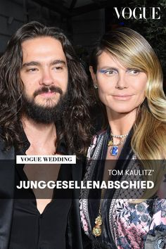 Tom Kaulitz, Heidi Klum, Toms, Vogue Wedding, Models, Editorial, Hollywood, Engagement, Getting Married