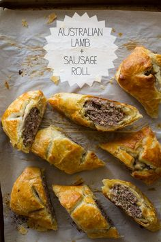 Our Australian Lamb & Sausage Roll is the perfect snack. It is basically a meat pie, and we used lamb and mild Italian pork Sausage. Aussie Food, Australian Food, Australian Recipes, Aussie Bbq, Pavlova, Lamb Recipes, Cooking Recipes, Greek Recipes, Empanadas