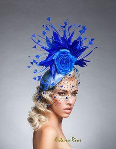 03618d59830 Items op Etsy die op Royal Blue Fascinator