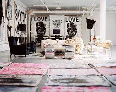 Pro skater Ryan Korban's edgy, art-filled NYC living room