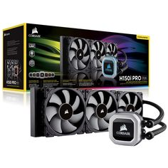 corsair-h150i-pro-rgb Computer Center, Radiators, Computer Accessories, Light Colors, Computers, Gaming, Videogames, Radiant Heaters, Bright Colours