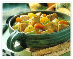 Teriyaki Pineapple Pork Stew | AllFreeSlowCookerRecipes.com