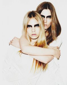 Caroline Brasch Nielsen and Cara Delevingne for Numero issue #121 march 2011 by Ben Hassett