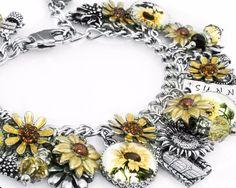 Sunflower Jewelry, Sunflower Bracelet