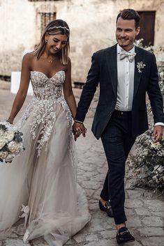 Wonderful Perfect Wedding Dress For The Bride Ideas. Ineffable Perfect Wedding Dress For The Bride Ideas. Long Wedding Dresses, Tulle Wedding, Bridal Dresses, Wedding Gowns, Wedding Dress Beach, Wedding Ceremony, Modest Wedding, Bridesmaid Dresses, Backless Wedding