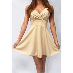 vestido beige con el arco en la parte posterior del comercio al por mayor y importacion