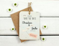Set of 10 Save the Date luggage tag magnets by ElizabethRoseCrafts