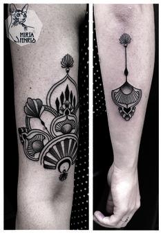 Mirja Fenris Tattoo Mini Tattoos, Rosa Tattoos, Body Art Tattoos, New Tattoos, Mandala Sternum Tattoo, Backpiece Tattoo, Arm Tattoo, Sleeve Tattoos, Art Deco Tattoo