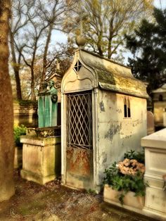 Pere Lachaise cemetery in Paris, France.  Photo taken by Andrea Duffy