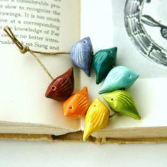 Handmade+Birds+Bead+Set++Sampler+Collection++by+BackBayPottery,+$35.00