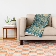 Buy BLUE ORGANIC MANDALA Throw Blanket by Nika . Worldwide shipping available at Society6.com. Just one of millions of high quality products available.  #blanket #bohemian #boho #mandala #watercolor #mixedmedia #home #decor #couch #interior #design #illustration #indie #hippie #chic #ethnic