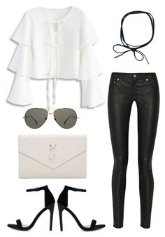 """""""Untitled #1815"""" by kellawear on Polyvore featuring Acne Studios, Chicwish, ASOS, Linda Farrow and Yves Saint Laurent"""