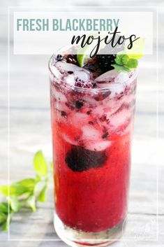 Combine a signature rum cocktail with fresh, summer blackberries to take these bubbly cocktails to a whole new level. Blackberry Mojitos capture the flavor of summer.  #mojitos #blackberries #cocktails