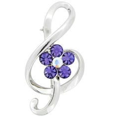 Tanzanite Music Note Pin Swarovski Crystal Pin Brooch Fantasyard. $12.59. Exquisitely detailed designer style. Gift box available for an additional fee. Please check out through gift-wrap option. Other color available
