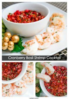 cranberry basil cocktail sauce and shrimp