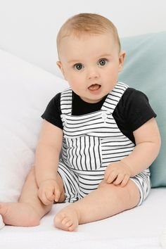 Buy Multi Stripe Dungarees And Bodysuit from the Next UK online shop Boys Baby Fashion Newborn Fashion, Baby Boy Fashion, Kids Fashion, Fashion Games, Fashion Tips, Cute Baby Boy Images, Baby Boy Photos, Cheap Kids Clothes, Cute Baby Clothes