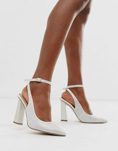 Discover the range of wedding shoes with ASOS. Shop bridal heels, sandals & platforms, in cream, nude, gold and embellished styles with ASOS. Order today at ASOS. Lace Up Heels, Ankle Strap Heels, Pumps Heels, Stiletto Heels, High Heels, Ankle Straps, Asos, Bridal Shoes, Wedding Shoes