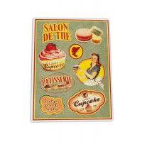 """Plaque Petits Magnets Deco """" Lady Cupcake """" Native déco rétro vintage"""