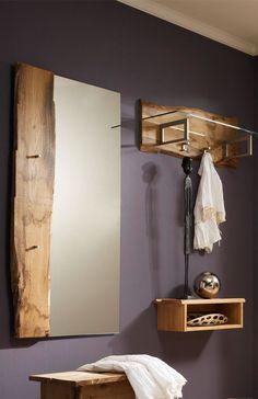Garderobe Woodline aus massivem Eichenholz, 3-teilig SKALIK MEBLE | Möbel Letz - Ihr Online-Shop