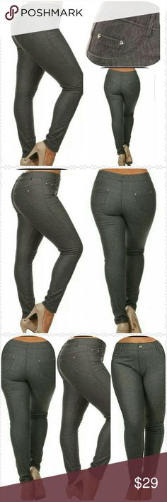 Plus Stretch Jeggings (1X, 2X, 3X) Super cute stretch Jeggings. Perfect to pair with heels, sneackers, or flats. Pants Leggings