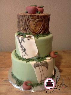 Giving Tree Cake. Could be great for baby shower