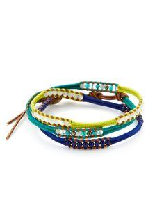 Semi-Precious Stone & Leather Wrap Bracelet by Chan Luu on Gilt.com