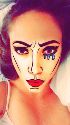 Pop Art makeup of Emily Murphy @emmalemontree
