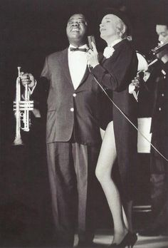 indypendent-thinking:  Louis Armstrong & Marlene Dietrich