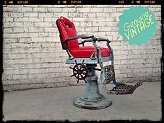 barbers chair patent art print barber shop decor от patentprints