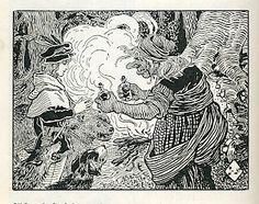 """Jenny Nyström - Illustration for """"Silvervit och Lillvacker"""""""