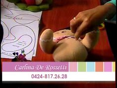 DetallesMagicos con MimiLuna Invitada Carlina Rosseti Muñequeria 0ct2013 parte 4 - YouTube Christmas Sewing, Christmas Projects, Fabric Crafts, Diy Crafts, Ginger Cookies, Paper Flowers, Gingerbread, Projects To Try, Christmas Decorations