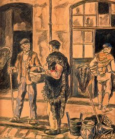1930-33 Marineros a la puerta de una taberna. José Gutiérrez Solana