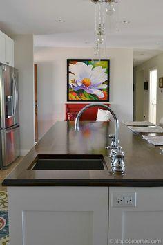 DIY walnut countertop kitchen island