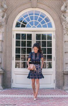 luisa via roma self portrait lace dress