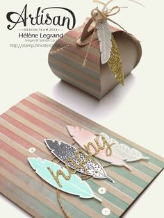 Stamp 2 LiNotte: Use a decorative mask !- Stampin'Up ! Artisan Blog Hop - Hélène LEGRAND