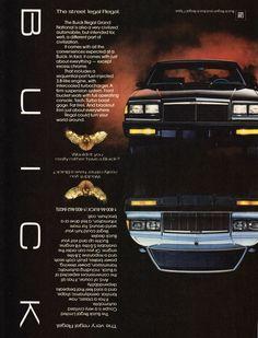 1986 Buick Regal Grand National.