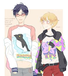 Reigisa / i seriously love clothing swap pictures of my otps :')