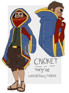 Cricket, my wandering trader oc! bc they r my fave new villager type/design in the new update! Minecraft Images, Minecraft Comics, Minecraft Mobs, Minecraft Drawings, How To Play Minecraft, Minecraft Fan Art, Minecraft Kingdom, Minecraft Costumes, Character Art