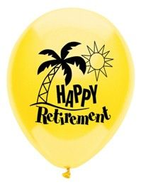 Happy Retirement Assortment Latex Balloons 8ct | Wally's Party Factory #retirement #balloons