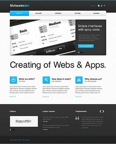 Mohawke Dev Moto CMS HTML Templates by Hugo