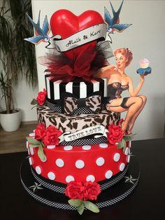 Rockabilly Torte Hochzeitsgeschenk DIY Idee