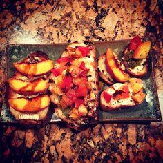 Plates I made for Amanda and Kurt. Amanda's food creation yum